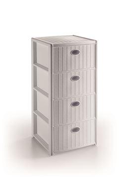 cassettiera eleg-4 cass-bianca 30400