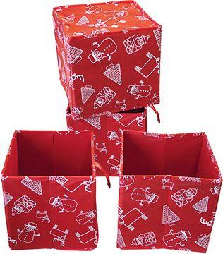 - scatola in tessuto natale