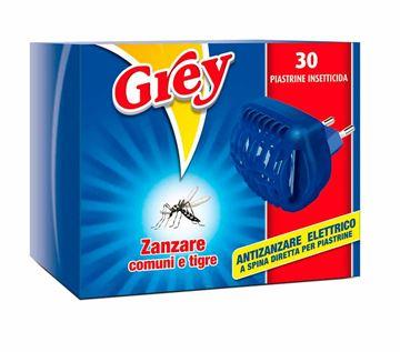 Antizanzare elettrico Grey da 30 piastrine