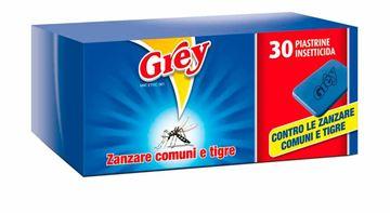 30 piastrine antizanzare grey