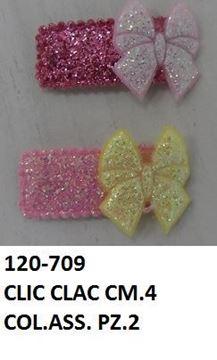 Picture of CLIC CLAC X2 CM.4 FIOCCO GLITTER COL. ASS. CS120-709