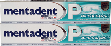 Picture of MENTADENT MICRO GRANULES TOOTHPASTE BI-TUBE 75 ML