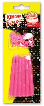 Picture of CANDELINE COMPLEANNO X 12 ROSA 402\R