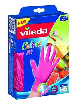 Picture of VILEDA GUANTI COLOR 50 NITRILE M/L GRANDI
