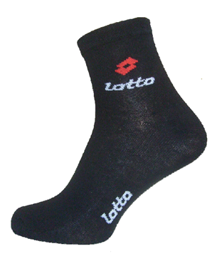 Picture of CALZINO LOTTO X3 GILA NERO 39/42 UOMO