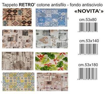 Picture of @ TAPPETO RETRO' 53X140 COTONE F.DO ANTISCIVOLO