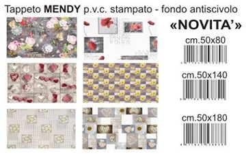 Immagine di @ TAPPETO MENDY 50X180 PVC STAMPATO F.DO LATTICE