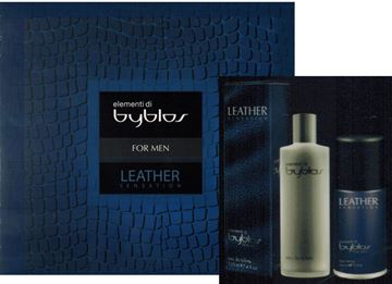 Picture of BYBLOS CONF MEN LEATHER EDT 120ML. + DEOD 150 ML.