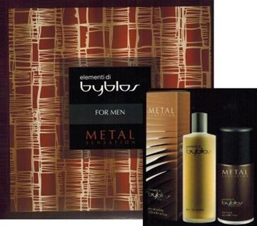Picture of BYBLOS CONF MEN METAL EDT 120ML. + DEOD 150 ML.