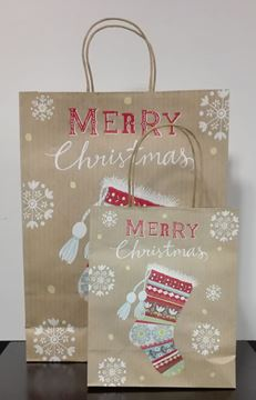Picture of Christmas paper gift bag  20X25,5X10