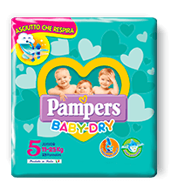 Picture of PAMPERS BABY DRY JUNIOR X 17 11/25 -9204