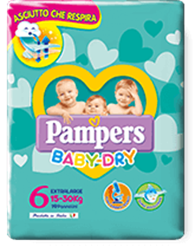 Picture of PAMPERS BABY DRY EXTRA LAR 15 15/30 9205