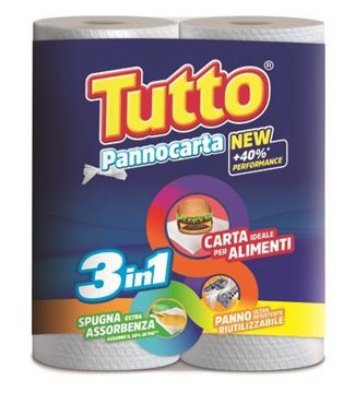 Picture of TUTTO CASA KITCHEN PAPER X 2