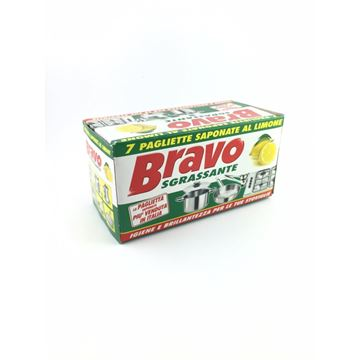 Picture of BRAVO STEEL SOAPY SCOURERS X 7