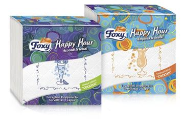 Picture of FOXY COLOURED NAPKINS HAPPY HOUR 33X33X50