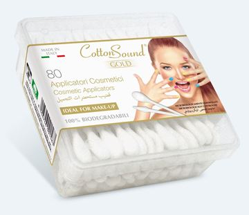 Picture of MAKE UP APPLICATORS COTTON SOUND X 80