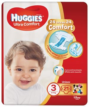 Picture of HUGGIES DIAPERS ULTRA COMFORT N.3 4/9 KG