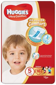 Picture of HUGGIES DIAPERS ULTRACOMFORT N.5 11/25 KG