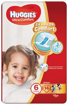 Picture of HUGGIES DIAPERS ULTRA COMFORT N.6 16/30 KG