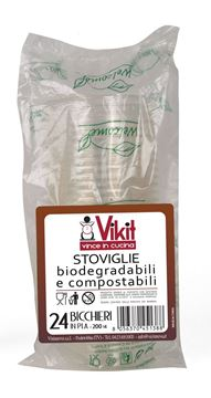 Picture of BICCHIERI VIRINNOVA BIODEGRADABILI & COMPOSTABILI X 24 PZ 200 ML