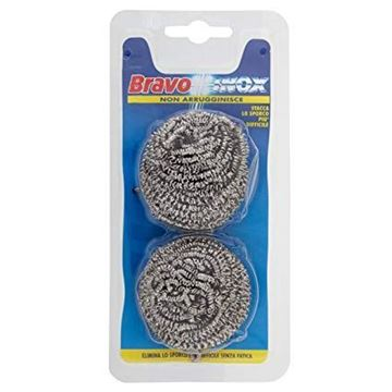 Picture of BRAVO STEEL INOX SCOURER BALLS X 2