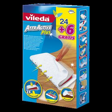 Picture of VILEDA ATTRACTIVE PLUS RICARICA PANNI CATTURA POLVERE 24+6