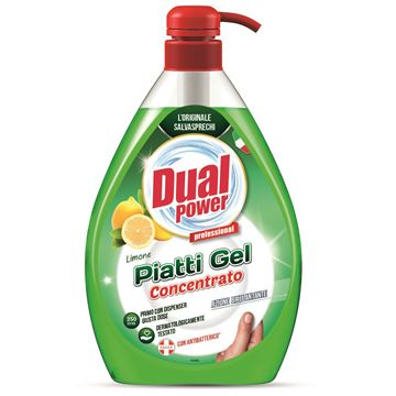 Picture of DUAL POWER PIATTI GEL CONCENTRATO DOSATORE L 1 LIMONE CON ANTIBATTERICO