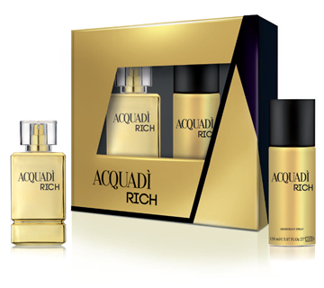 Picture of ACQUADI' CONF REG MAN RICH EDT 100ML+DEO 150