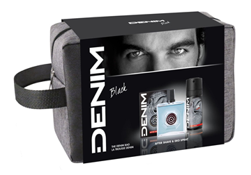 Picture of DENIM CONFEZIONE REGALO TROUSSE BLACK DOPO BARBA + DEODORANTE SPRAY