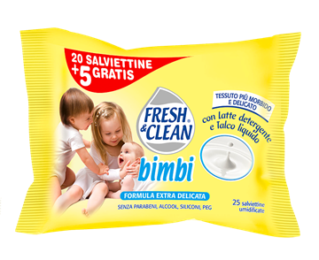 Immagine di FRESH & CLEAN SALVIETTE BABY X 20+5