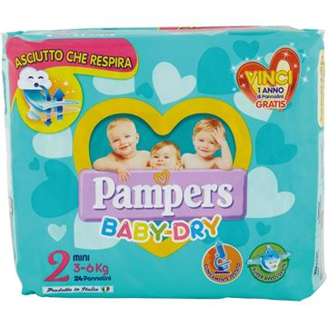 Picture of PAMPERS BABY DRY 2 MINI X 24 3-6 KG