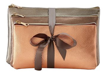 Picture of SET 3 POCHETTE ORO BRONZO RAME