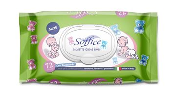 Picture of SOFFICE BABY WIPES X 72 ALOE VERA