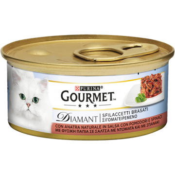 Picture of FRISKIES GOURMET DIAMANT ANATRA POMODORO & SPINACI G 85