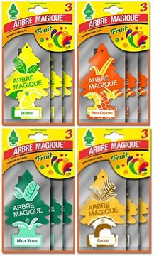 Picture of ARBRE MAGIQUE DEODORANTE AUTO X 3 FRUIT MISTI