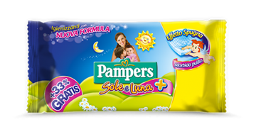 Picture of PAMPERS SALVIETTE BABY SOLE & LUNA 46