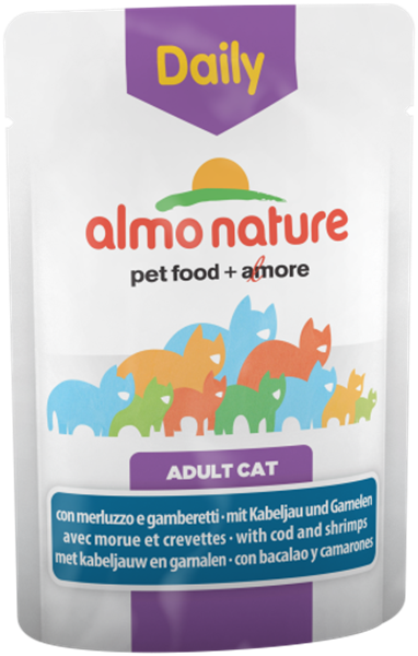 Picture of ALMONATURE GATTO BUSTA DAILY G 70 MERLUZZO & GAMBERI