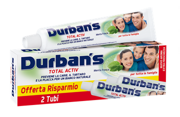 Picture of DURBANS WHITE ACTIV TOOTHPASTE 2 X 75 ML