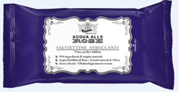 Picture of NEUTRO ROBERTS ACQUA ALLE ROSE SALVIETTE STRUCCANTI TRAVEL SIZE VIAGGIO