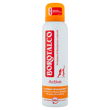 Picture of BOROTALCO DEODORANTE SPRAY 150 ML ACTIVE ARANCIO