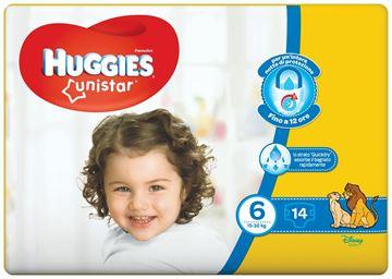 Immagine di HUGGIES PANNNOLINI UNISTAR LARGE 15-30 X 14