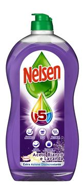 Picture of NELSEN WASHING UP LIQUID VINEGAR LAVENDER 900 ML