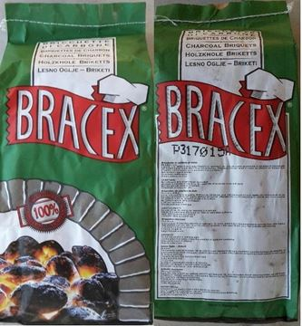 Picture of BRACEX BRICCHETTE DI CARBONE KG 3 SACCO