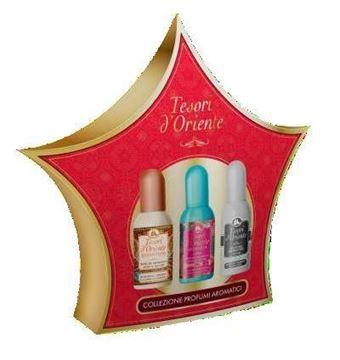 Cofanetto con 3 mini profumi aromatici Tesori d'Oriente