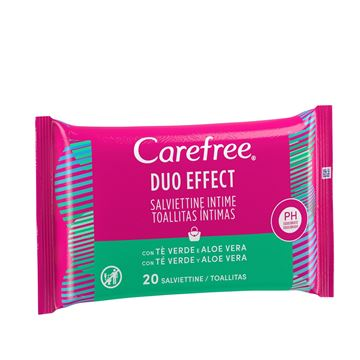 Picture of CAREFREE SALVIETTINE INTIME X 20 TE VERDE & ALOE VERA