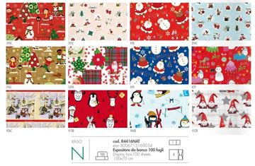 Picture of CARTA REGALO RASO ART 4416NAT NATALE 100 FOGLI