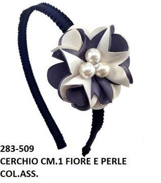 Picture of CERCHIETTO FIORE PERLE E STRASS 0,5CM