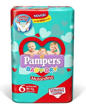 Picture of PAMPERS  MUTANDINO EXTRA LARGE X 14