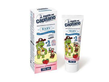 Immagine di Pasta del Capitano dentifricio baby + 3 anni fragola 75 ml