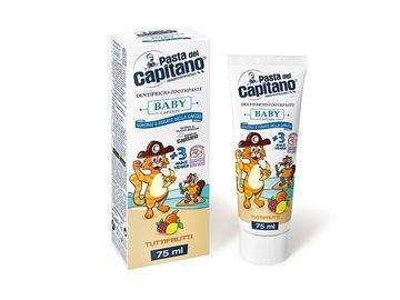 Immagine di Pasta del Capitano dentifricio baby + 3 Tuttifrutti 75 ml